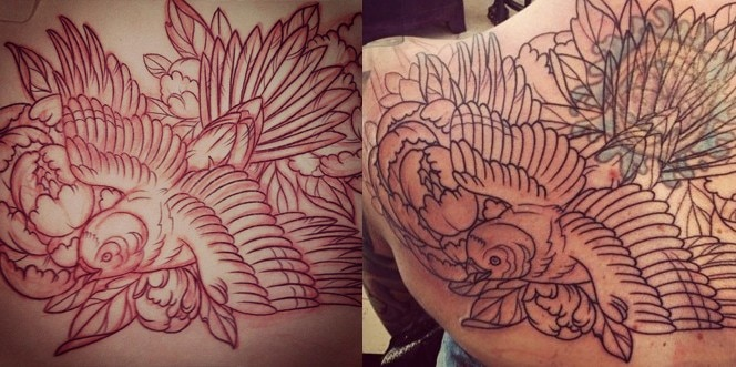 San Diego Tattoo Parlor | Terry Ribera Featured Bird Tattoo in Progres