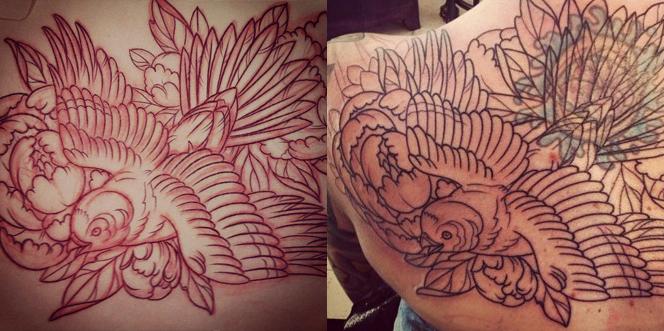 San Diego Tattoo Parlor   Terry Ribera Featured Bird Tattoo in Progres