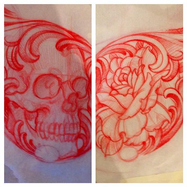 #terryribera #remingtontattoo @remingtontattoo @terryribera www.remingtontattoo.com #skull #rose #sandiego #northpark #tattoo