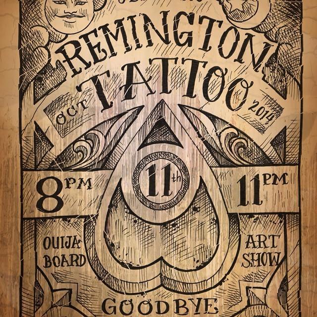 Ouija Board Art Show Remington Tattoo Parlor