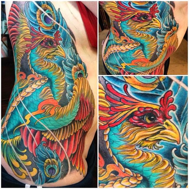 Phoenix tattoo by Nathaniel Gann