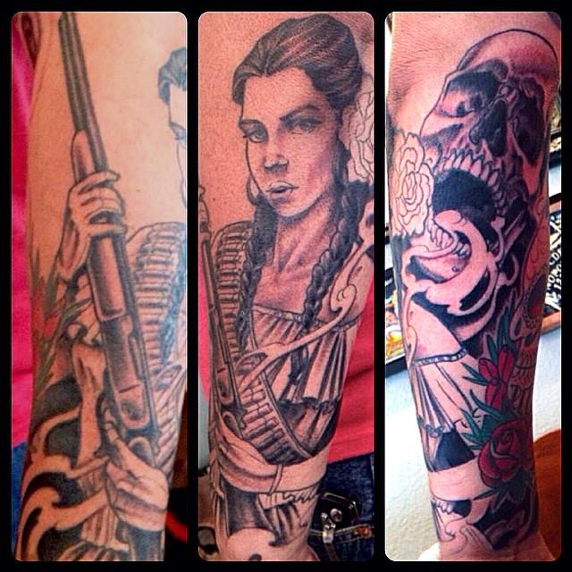 Progress shot Tattoos by Nathaniel Gann