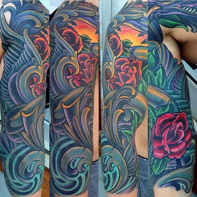 Full Tattoo Sleeve by Terry Ribera