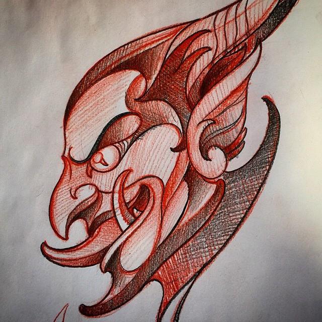 Morning sketch by Terry Ribera @terryribera #devil #satyr #drawing #sketch #devilart #devildrawing #squeezeoneoff