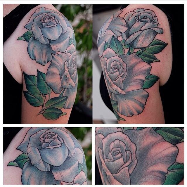 Rose Tattoo by Nathaniel Gann