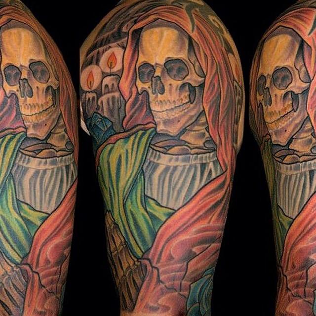 By Terry Ribera @terryribera #grimreaper #reapertattoo #terryribera
