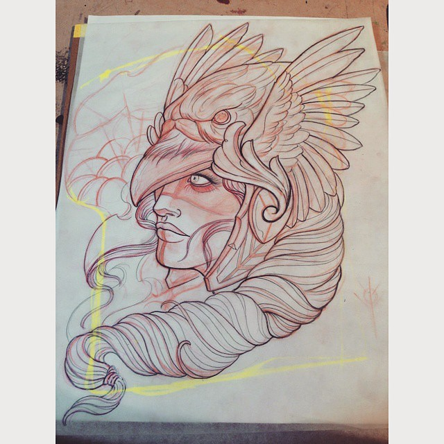Getting this piece ready by Gust Razo @gust_razotattoos #drawing #sketch #sandiegotattoo