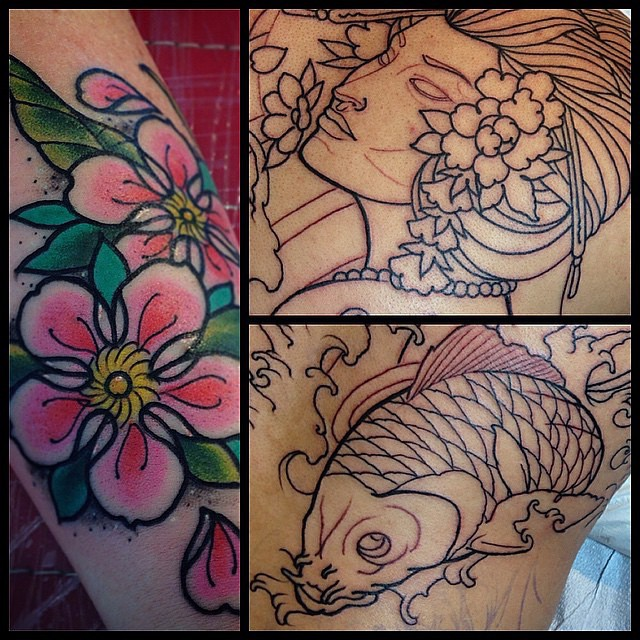 By @gust_razotattoos #remingtotattoo #japanesetattoo #koifishtattoo