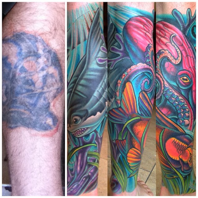 #beforeandafter #coverup #terryribera #Remingtontattoo @terryribera @remingtontattoo #sandiegotattooartist www.remingtontattoo.com, www.terryribera.com