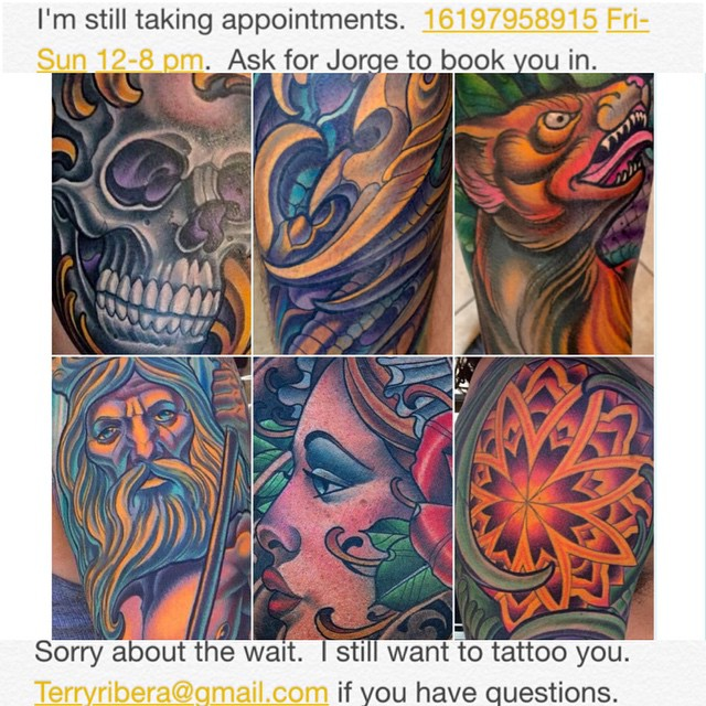 Thank you to all of my clients for the many years of support.  Most of you who that have been in contact with me over the last 4 years have booked thru my previous assistant.  That position was terminated nearly 4 months ago.  Since than I have hired our new assistant Jorge.  He has been with us at Remington Tattoo for the last couple of months.  Contrary to what some of you might have been told I am actively taking appointments.  I have not stopped.  With that said I know waiting a year for your tattoo can seem like a very long time.  However the tattoo you receive will last far longer than that.  I've been very lucky to have so many repeat clients over the nearly 15 years I've been tattooing  and I greatly appreciate all of your support.  I will always look forward to tattooing all of you.  This goes for future clients as well. The reality is that you all have supported my living and of course most recently the success of my shop.  I can not explain how greatly I value that. Some people might argue that a year is too long to wait. I personally think in the span of a tattoo and it's longevity it's rather short. Some of you might argue that it is expensive... This is a really up to you.  I will say that I've have acquired a particular knack for tattooing quickly and efficiently.  You always have the choice of going to a slower less efficient and often less skilled person if you prefer.  I am aware of cost and because of that I always round my time and cost in my clients favor.  I'm very mindful of the fact that I sell something that honestly nobody needs the fact is tattoos are a luxury. Many people I believe are marking themselves at a point in their life where it has a far deeper meaning and need than a simple picture on their skin.  I don't know what that is worth to everybody, but I'm fairly certain bargain hunting on your tattoo can often lead to a regrettable decision.  There is a reason I've acquired a long wait period, I'd like to believe it's because I'm do