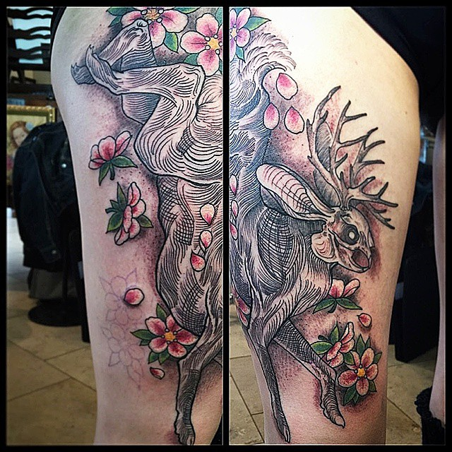 JJackalope Tattoo by Gustavo Razo