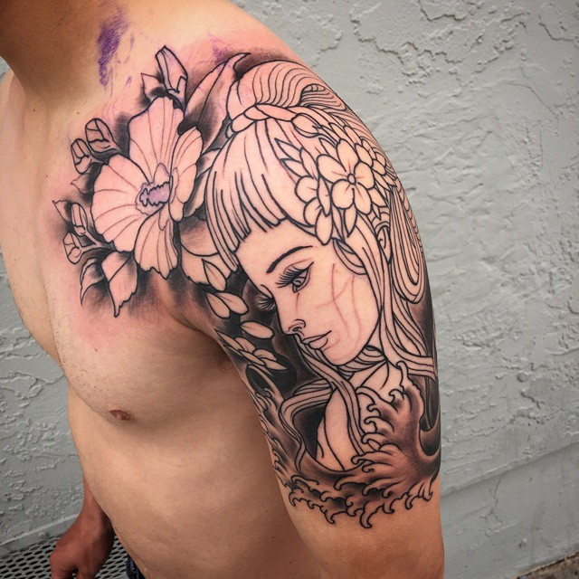 Japanese Tattoo by Gustavo Razo