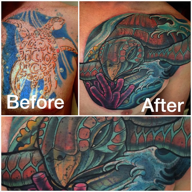 #coverup #before and #after #terryribera #remingtontattoo @terryribera @remingtontattoo