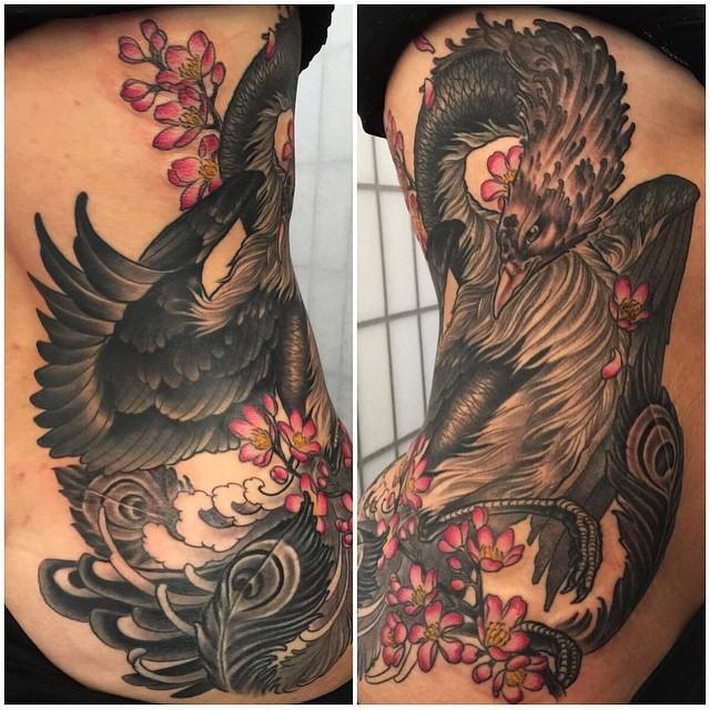 By Nathaniel Gann @nathanieltattoosd #pheonixtattoo #tattoosnob @tattoosnob #remingtontattoo