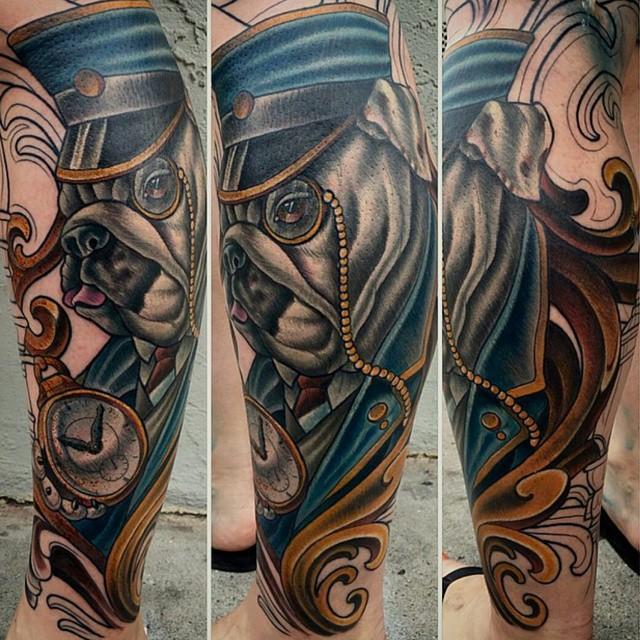 Work in progress by @terryribera #art #tattoo #tattoos #remington #remingtontattoo #terryribera #terryriberatattoo #northpark #30thst #sandiegotattoo #sandiegoartist #sandiego #bulldog #trian