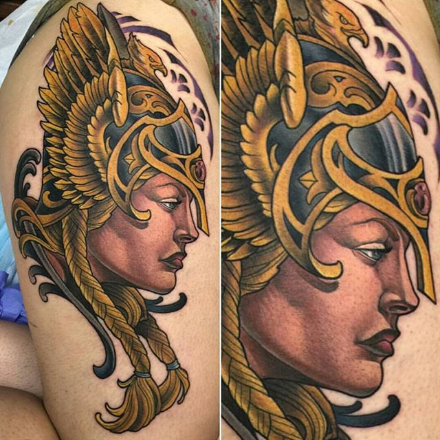 Tattoo by @terryribera during his guest spot at @kapalatattoo #art #tattoo #tattoos #remington #remingtontattoo #terryribera #terryriberatattoo #kapala #kapalatattoo #guestspot