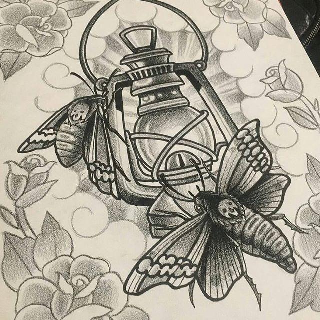 Drawing by @chriscockadoodledo #art #tattoo #tattoos #tattooart #drawing #moth #lantern #northpark #30thst #remington #remingtontattoo #chriscockrell #chriscockrelltattoos #sandiegotattoo #sandiegotattooshop #sandiegotattooartist #sandiegoartist #sandiego