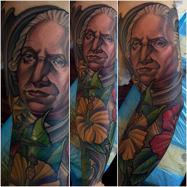 #remingtontattoo #sandiego #terryribera @terryribera @remingtontattoo #georgewashington