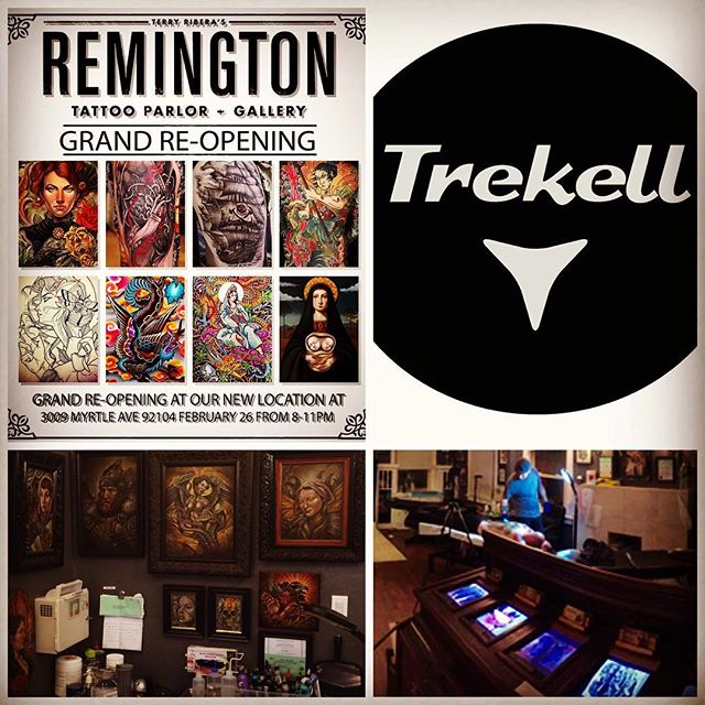 Don't forget tonight at Remington Tattoo 3009 Myrtle Ave. San Diego, CA. 92104 8-11pm raffle tickets, can food drive for Mamma's Kitchen @remingtontattoo @trekell_art_supplies