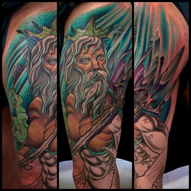 #terryribera @terryribera @remingtontattoo #remingtontattoo #sandiegotattooshops #sandiegotattooartist #neptune #poseidon