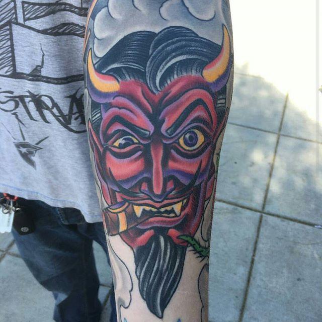 Part of a sleeve in progress by @theblacktroll #tattoo #tattoos #tattooart #wip #slevetattoo #detail #devil #deviltattoo #northpark #30thst #sandiegotattoo #sandiegotattooshop #sandiegotattooartist #sandiegotattoo #sandiego #sandiegoartist