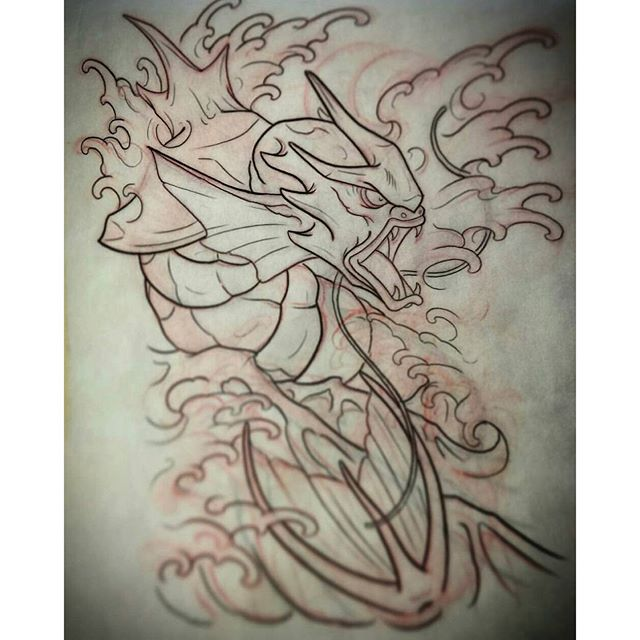 Sketch for an upcoming gyarados tattoo by @gust_razotattoos #tattoo #tattoos #tattooart #wip #sketch #sketching #gyarados #gustrazo #gustrazotattoos #pokemon #pokemontattoo #northpark #30thst #myrtleave #sandiegotattoo #sandiegotattooshop #sandiegotattooartist #sandiegoartist #sandiego