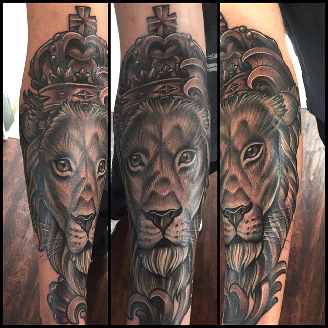 #terryribera #sandiegotattooartist #lion #remingtontattoo @terryribera