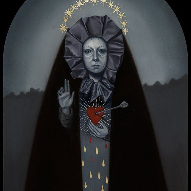 """Blood & Tears"" oil on board by Jasmine Worth for her upcoming feature show, opening at La Luz de Jesus Gallery August 5th. Go see her art at the show or come make an appointment with her at Remington Tattoo and get her art put on your body forever! Contact JasmineWorthTattoos@gmail.com for info and availability. Thank you! #darkart #darkartists"