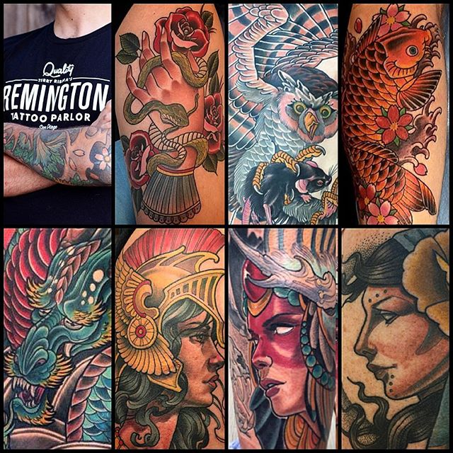 REMINGTON TATTOO IS HIRING!Attention Tattoo Artists: Remington Tattoo is looking to hire one motivated tattoo artist. We are looking for someone with at least 5 years of experience, who draws well and tattoos like they know what they're doing. You use black outlines, black shading in your color work and tattoo clean...did I mention you need to draw well?? We are going have 1 spot open for the right person who is looking to work with our crew. You can not be an apprentice, or be looking for an apprenticeship, I will not respond to any inquiries about apprenticeships! Currently we have 8 artists at our shop and one of them is taking the next couple of months to transition to a new state. We are going to take our time in choosing who we hire as we have a very family-like crew. We are also welcoming guest-artists and those looking to relocate to San Diego. Remington Tattoo is in the heart of North Park, near many restaurants, cafes and boutiques. Our website receives a high volume in traffic and we stay busy. We focus on custom tattoo work and are looking for someone with a strong portfolio. For inquiries please email Terry Ribera terryribera@gmail.com www.remingtontattoo.com