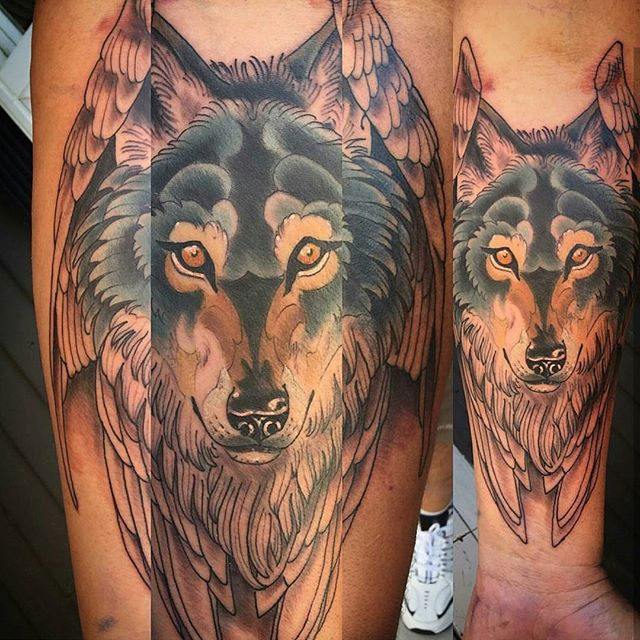 #remingtontattoo #sandiegotattoo #wolftattoos @gust_razotattoos