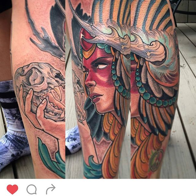 #remingtontattoo #girltattoos #nativeamericantattoo @gust_razotattoos