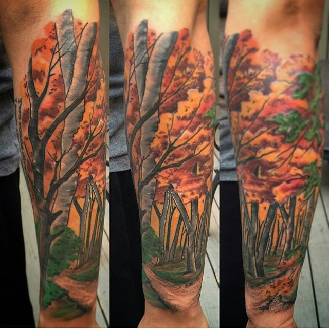 #remingtontattoo #sandiegotattooartist #sandiegotattooshop #autumntattoo #autumn @gust_razotattoos