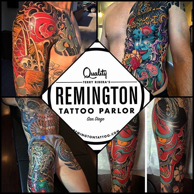 Welcome our friend @johnsabin John Sabin to Remington Tattoo he'll be tattooing with us starting March 28th. Come by and say hello and get an appointment.