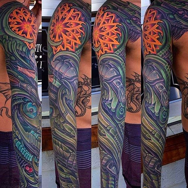 Biomech tattoo by @terryribera #biomech #biomechtattoo #tattooistartmag #sandiegotattooartist #sandiegotattooshop #sandiegotattoo