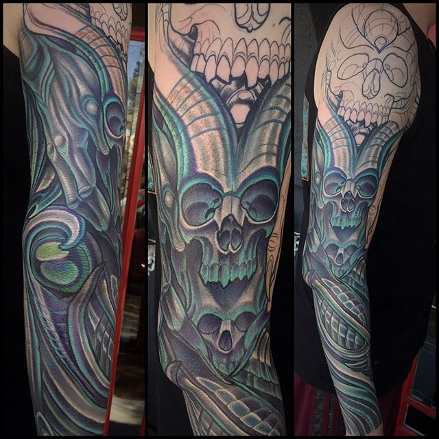 #northparktattooartist #sandiegotattooartist @terryribera @remingtontattoo #terryribera #remingtontattoo #biomech_collective #biomechanicaltattoo #terryribera #remigtontattoo