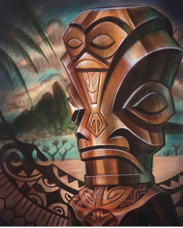 Tahitian Tiki by @terryribera #tiki #tahiti #sandiegotattoo #sandiegotattooer #sandiegotattooshop #sandiegotattooartist