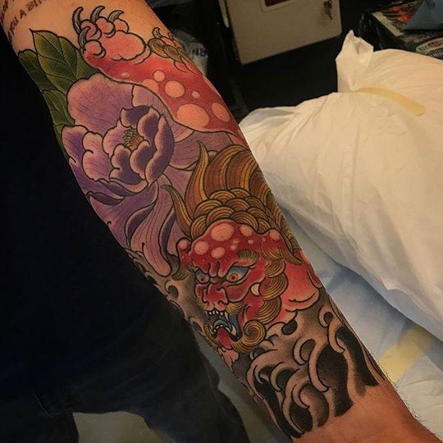 FuDog tattoo by @alessioricci #fudogtattoo #fudog #foodogtattoo #foodog #japanesetattoo #japanesetattoos #sandiegotattooshop #sandiegotattooer #sandiegotattoo #sandiego