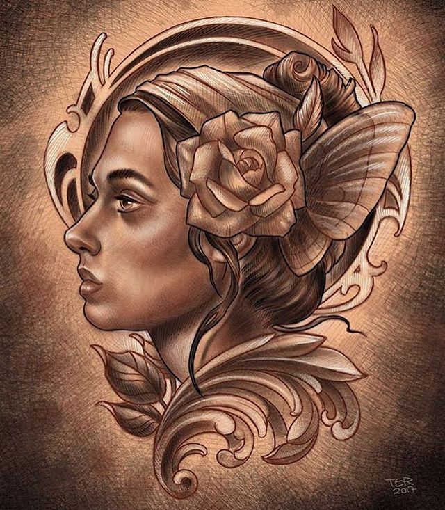 Drawing by @terryribera #drawing #ipadpro #ipadproart #sandiegotattooartist #sandiegotattoo #sandiegotattooer #sandiegotattooshop