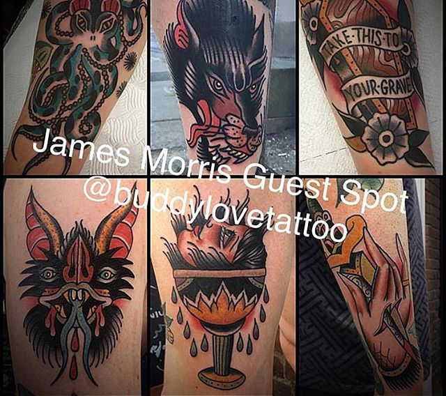 James Morris will be guest spotting with us at Remington Tattoo July 26th-30th, 2017 Email: james.morris100@btinternet.com to book with him! Instagram follow @buddylovetattooto see more of his awesomeness.