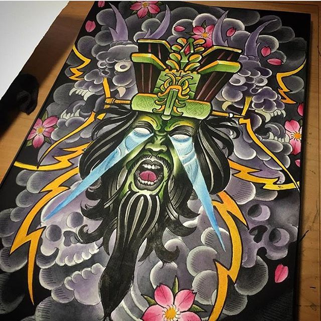 lo-pan painting by @chriscockadoodledo #bigtroubleinlittlechina #lopan #painting #sandiegotattooshop #sandiegotattooer #sandiegotattoo #remingtontattoo #sandiegotattooartist #sandiegotattooshop