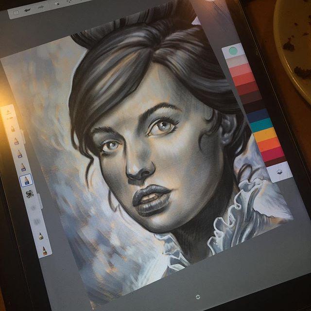#terryribera #iPad pro @terryribera @remingtontattoo