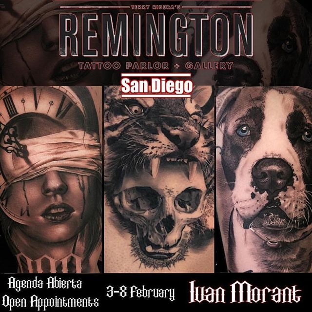@ivanmorant_tattoo will be tattooing with us February 3-8 2018 if you have not booked with Ivan you are running out of time. Grab your chance before he's gone.