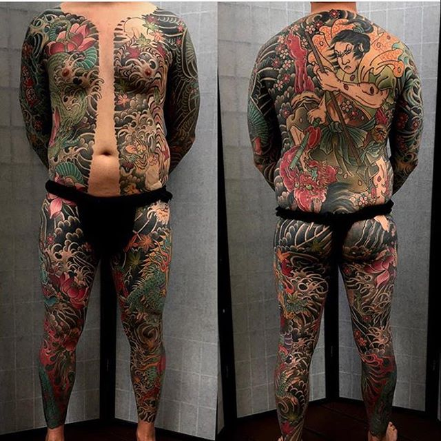 Japanese style full body coverage by @alessioricci here at @remingtontattoo #sandiegotattooartist #remingtontattoo #japanesetattoo #northpark