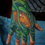 Biomechanical Hand Tattoo by Terry Ribera