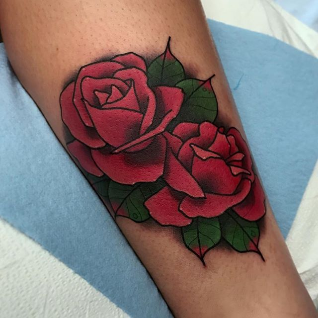 Roses by @jasmineworthtattoos for the @horichata memorial fundraiser