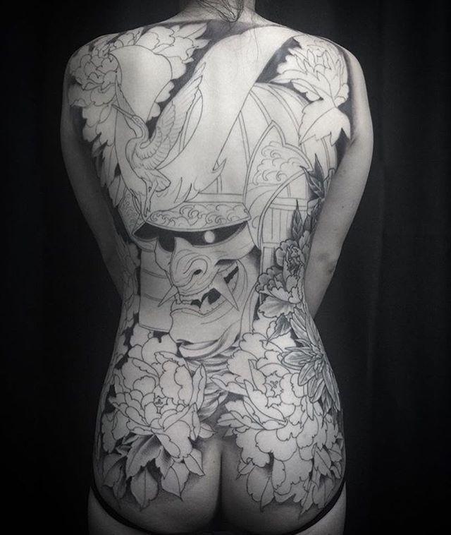 This #samurai #helmet #backpiece #tattoo in the works by @gust_razotattoos at #remingtontattoo #samuraitattoo #helmettattoo #backtattoo #backpiecetattoo #peony #peonytattoo #flower #flowertattoo #japanesetattoo #japanesestyle #northparktattooartist #sandiegotattooartist #sandiego #northpark #sd