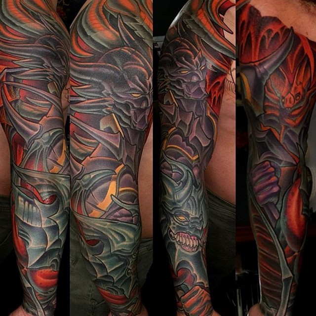 This #finalfantasy #sleeve done by @terryribera at @remingtontattoo #videogametattoo #finalfantasytattoo #customtattoos #sleevetattoo #armtattoo #sandiegotattooartist #sd #sandiego #northpark #remingtontattoo #terryribera